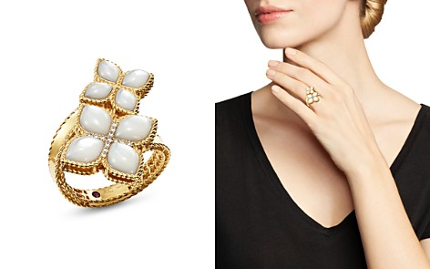 Roberto Coin 18K Yellow Gold Venetian Princess Mother-Of-Pearl & Diamond Bypass Ring - Bloomingdale's_2